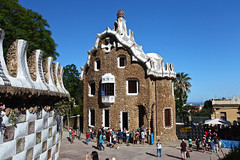 Park Guell - Gate house (Saleha Ullah) Tags: gingerbreadhouse barcelona gaudi