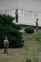 Watching the watchers (karstenmjung) Tags: dprk demilitarizedzone 2014 persönliches jointsecurityarea dmz nordkorea northkorea länder reisen asien koreanwar jahre panmunjon südkorea demarcationline 파주시 경기도 kr