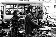 Street Music (Jaime Recabal) Tags: canon 40d recabal monochrome blancoynegro blackandwhite musica street calleestado avelibertadorbernardoohiggins 50mm lenscanon50mm