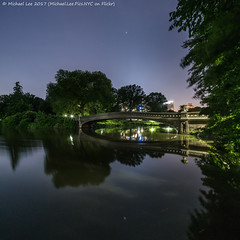 Bow Bridge (20170614-DSC04153) (Michael.Lee.Pics.NYC) Tags: newyork centralpark bowbridge lake architecture cityscape night longexposure reflection square sony a7rm2 voigtlanderheliar10mmf56