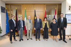 Alexander Dobrindt, Enrico Finocchi, François Bellot, Doris Leuthard and Pawel Wojciechowski