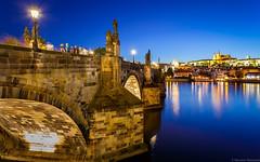 Charles Bridge with Castle (m@ty2011) Tags: blue hour czech republic prague charles bridge photo travelphoto travel staremesto