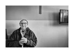 Portrait (Jan Dobrovsky) Tags: document leica m 21mm biogon reallife indoor human care grain contrast mentally handicapped portrait monochrom monochrome blackandwhite