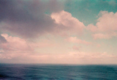 Part of the Same: Sea and Sky (thomas_anthony__) Tags: australia ocean sea sky clouds horizon canon a1 lomochrome purple film 35mm blue grain