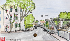 La France des Sous-Préfectures 11 (chando*) Tags: aquarelle watercolor croquis sketch france
