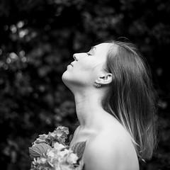 (Esther'90) Tags: portrait portraitphotography portraitwoman portraiture portraitmood portraits woman womanportrait womanfashion botanical bokeh bokehbackground blackandwhite blackandwhiteportrait blackandwhitephotography nature naturallight natural hydrangea flowers summer summertime 2016