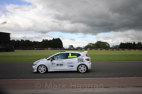 Jade Edwards in the Renault Clio Cup during the BTCC weekend at Croft, June 2017