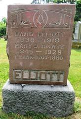 Elliott David 1838 - 1918 (Hear and Their) Tags: fraternal grave stones markers oddfellows masonic mason freemason kingsville ontario greenhill cemetery