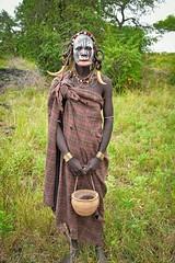 Mursi Woman (Rod Waddington) Tags: africa african afrique afrika äthiopien ethiopia ethiopian ethnic etiopia ethnicity ethiopie etiopian omo omovalley omoriver mago mursi tribe traditional tribal woman basket lipplate portrait people painted face outdoor