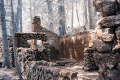 Stone House (JClarke (ninja)) Tags: foreboding abandoned skamania infrared forest stonehouse stevenson washington unitedstates us