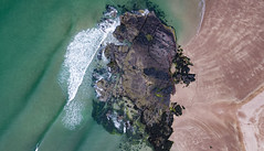 Sandwood Bay Sutherland Scotland and Am Buachaille by Aaron Sneddon aerial image (9) (Aerial & Press Imaging) Tags: sandwoodbay sutherland sandwoodbeach beach scottishbeach ambuachaille ambuachailleseastack seastack aerialphoto aerialphotograph aerialphotography dronephoto dronephotograph