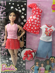 Pizza Girl Barbie Fashionista in box (modcasey) Tags: made movie barbie action shots fashionista pizza girl with teresa polka dots