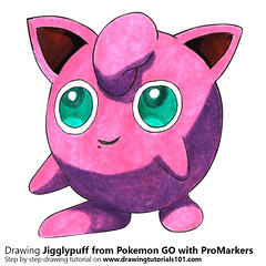 Jigglypuff from Pokemon GO with ProMarkers [Speed Drawing] (drawingtutorials101.com) Tags: jigglypuff pokemon go pokémon video games augmented niantic dennis hwang junichi masuda promarkers promarker alcohol markers marker color colors coloring draw drawing drawings how timelapse