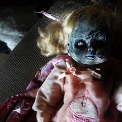Happy Birthday, Goody! (tishpitt1) Tags: horrordoll doll spooky zombie undead ghoul baby birthday scary