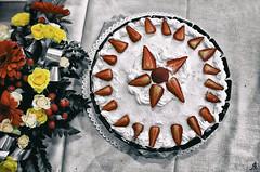 Sweet spaceship (Alessandro Giorgi Art Photography) Tags: space spaceship astronave sweet dolce torta cake fruit strawberry fragole flowers fiori party celebration festa festeggiamento nikon d7000 red rosso yellow giallo strawberries cream panna