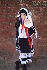 IMG_2474.jpg (Neil Keogh Photography) Tags: headress silver manga ribbons lace wig hood anime blouse videogames nwcosplayjunemeet2016 gothiclolita frills dress tights danganronpa maiddress jacket red female schoolgirl coat black hat tie cosplay white celestia boots cosplayer ring celestialudenberg playingcard