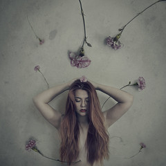 In Bloom (Stellie Chavez) Tags: fineartphotography fineart elliechavezphotography surrealphotography flowers portraitphotography portrait longhair surreal surrealism