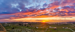 ۰۰۰Where the summer wind blows mildly in the flags۰۰۰ (Ranveig Marie Photography) Tags: spring pano panorama sun sunset solnedgang vesturskin sonnenuntergang evening kveld night colours midbrød eigerøy egersund eigersund dalane rogaland vedafjellet view utsikt berg rock norway norge norvege norwegen noruega norwegian norsk visitnorway vestlandet nature natur sigmaart sigmaart1835mm sigma nikon nikond5200 ranveignesse ranveigmarienesse photography photographs images pics photos pictures bilder houses homes village bygd farms jorder pastures sky clouds island green colors colorful colourful eigerøya vedafjell seagulls