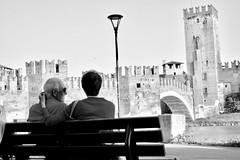 Ponte di Castelvecchio, Black & White (mao832) Tags: bn bw ritratto portrait paesaggio landscape natura nature d5500 nikon romantico romantic white black italy italia verona bridge ponte scaligero castelvecchio