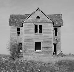 the look of surprise (David Sebben) Tags: abandoned farmhouse hamilton iowa surprise black white monochrome lonely