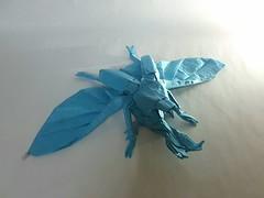 Flying kabutomushi-Shuki Kato (Kiên Bá) Tags: flying kabutomushi shuki kato origami samurai helmet beetle