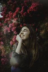 Thinking out loud (Jeღ) Tags: summer flower flowers nature gaden portrait 35mm canon jessicafavaro blondie teengirl teenphotographers film lookslikefilm bloom tree green rose beautiful face lights girl woman surreal dreaming
