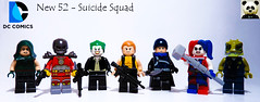 New 52 - Suicide Squad (Random_Panda) Tags: lego figs fig figures figure minifigs minifig minifigures minifigure purist purists character characters comics superhero superheroes hero heroes super comic book books films film movie movies tv show shows television dc villains new 52 suicide squad joker the deadshot enchantress harley quinn captain boomerang rick flag killer croc