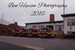 Gateshead Community Fire Station (Ben Hopson) Tags: uk fire service 2016 gateshead station angloco volvo icu alp pump communitty tyne wear rescue emergency vehicle 999 community lineup shot december