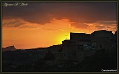 Tramonto di fine Maggio.. sul mio paesello - 2017 (agostinodascoli) Tags: nikon nikkor cianciana sicilia tramonto sunset paesaggi agostinodascoli texture cielo rosso nature