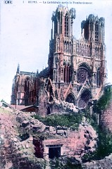 reims cathedral after bombardment (foundin_a_attic) Tags: reims cathedral after bombardment war europe great world one ww1 first wwi