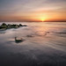 Sunrise at the Sabellariid worm reef.
