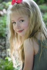 4 year old (Kile in KC) Tags: rimlight backlight forest woods child blonde youth girl