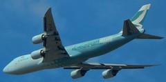 Cathay Pacific (peter.friess) Tags: cathaypacific calgary yyc hongkongtrader kongkong avgeek aviation boeing7478 boeing747