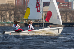 2017-04-16 Sailing at B.U. 006 (consolecadet) Tags: boston bostonuniversity cambridge charlesriver daily mollypleskus river sabrinavanmell sailing sports tufts watersports women womens