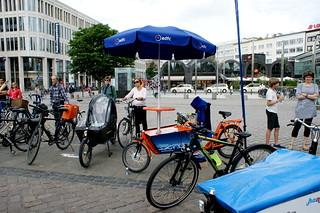 Teilnehmer mit Fahrrädern