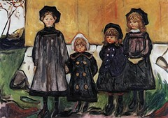 Edvard Munch - Four Girls at Asgardstrand, 1902 at Staatsgalerie Stuttgart Germany (mbell1975) Tags: edvard munch four girls asgardstrand 1902 staatsgalerie stuttgart germany deutschland norwegian norske expression expressionism expressionist painting art museum museo musée musee muzeum museu musum müze museet finearts fine arts gallery gallerie beauxarts beaux galleria