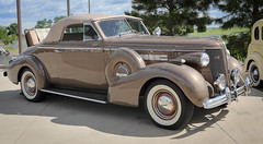 1937 Buick Convertible (coconv) Tags: car cars vintage auto automobile vehicles vehicle autos photo photos photograph photographs automobiles antique picture pictures image images collectible old collectors classic blart 1937 buick convertible 37 brown tan coupe sidemounts side mounts cabriolet