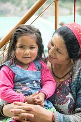 Cheeks (WhereIsTheBeach) Tags: india vashisht grandma granddaughter nepali