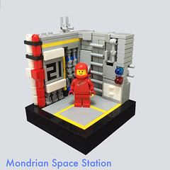 Mondrian Space Station (UrAsSaneAsIAm) Tags: lego neo classic space modern art mondrian