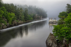 Into the Mist (Paul Domsten) Tags: stcroixriver river pentax minnesota potholes interstatepark taylorsfalls fog mist longexposure trees nature boats riverboats princess queen moody