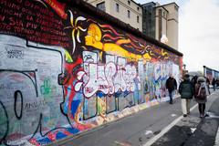 A remaining part of the Berlin Wall / Berliner Mauer (Anselm11) Tags: berlinermauer wall thewall berlin warschauerplatz graffiti bilder