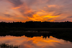 One Hot Sunset (JackPeasePhotography) Tags: sunset red yellow orange lake wimborne dorset uk heatwave hot