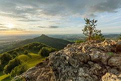 On top of the Hill (simonpe86) Tags: castle shadow deutschland schloss tree hill burg burghohenzollern germany sky green contrast hohenzollern cut clouds