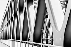 Bratislava; Starý Most (drasphotography) Tags: bratislava presburg pressburg slovakia drasphotography travel travelphotography reise reisefotografie monochrome monochromatic monotone blackandwhite bw schwarzweis bianconero sw old bridge starý most d810 nikkor70200mmf28 abstract abstrakt geometric geometry geometrisch