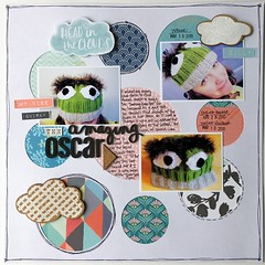 LOAD31 The Amazing Oscar (girl231t) Tags: 2017 scrapbook layout 12x12layout paper load load517 load31 rsg rsg2 sketch15 sketchbased
