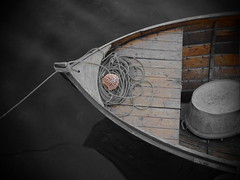 "Elemental (Say ""Wasabi"") Tags: tub bath rope noir bathtub serene calm tranquil minimalism minimalist abstract boat rowing moored harbour olympus m43 mzuiko40150 rowingboat norway lofoten"