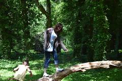 The Wife and The Tree (Steveneva88) Tags: wife wifey daughter woods woodlands tree trees fallentree ivy treeclimbing climbing nature bigkid naturephotography naturewalk woodlandwalk