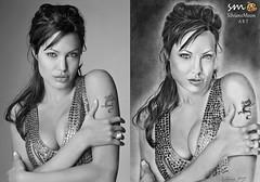 Angelina Jolie! Drawing by Silviane Moon (Silviane Moon) Tags: artworks artist silvianemoon silvianemoonart angelinajolie gente retrato