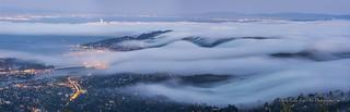 Fog Creeping over Marin Hills into Bay Area...