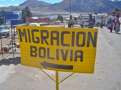 At the border of #Peru & #Bolivia along the shore of #LakeTiticaca waiting for our bus load of people to pass through #immigration.#TreasuresOfTraveling #SouthAmerica. Read more about my crazy #BorderCrossing experience here: http://treasuresoftraveling.c (TreasuresOfTraveling) Tags: bordercrossing peru treasuresoftraveling bolivia kasani immigration
